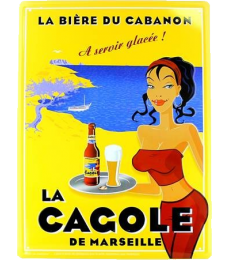 Grande plaque La Cagole Blonde