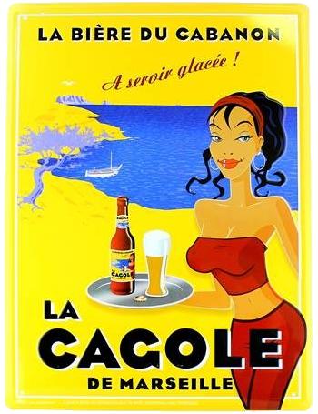 Grande plaque La Cagole Blonde
