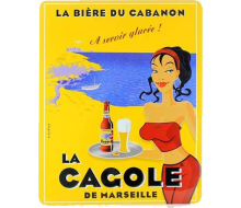 Petite plaque La Cagole blonde