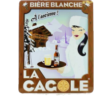 Petite plaque La Cagole Blanche