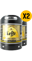 2 x Leffe Blonde 6L Keg