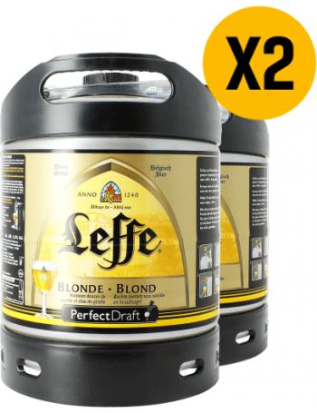 2 x Fûts 6L Leffe blonde