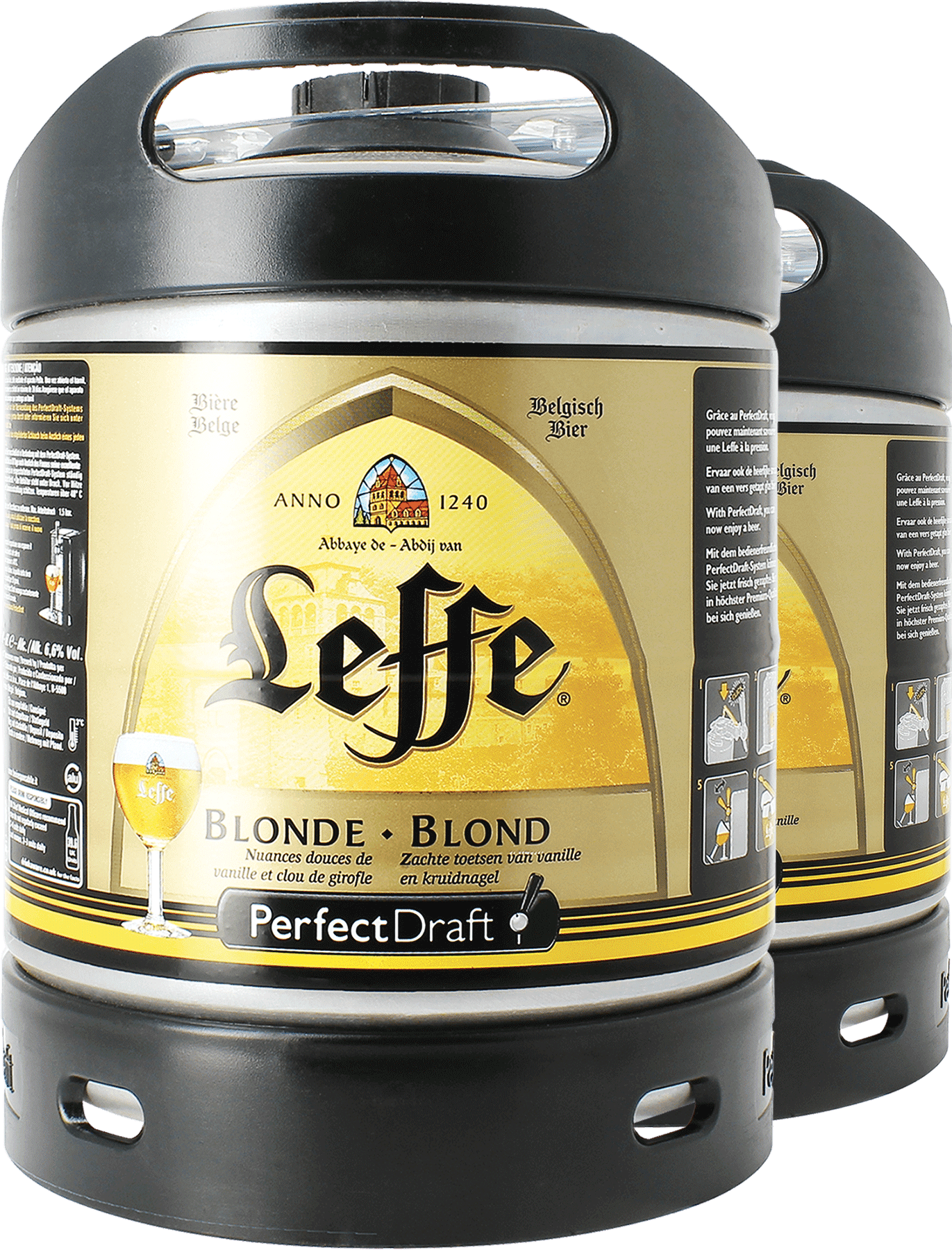 Barril Leffe Blonde PerfectDraft 6 L- 2-Pack