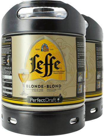 Leffe Blonde PerfectDraft 6-litre Keg - 2-Pack