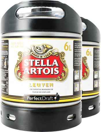 Pack 2 fûts 6L Stella Artois