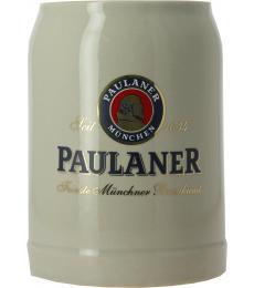 Paulaner 50cl earthenware stein glass