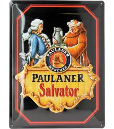 Metallic Plate of Paulaner Salvator
