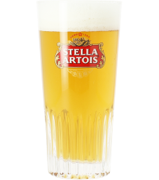 Stella Artois 25cl ribbed glass