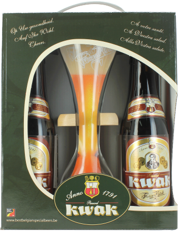 coffret kwak de la brasserie bosteels 4 bi res kwak et verre du cocher. Black Bedroom Furniture Sets. Home Design Ideas
