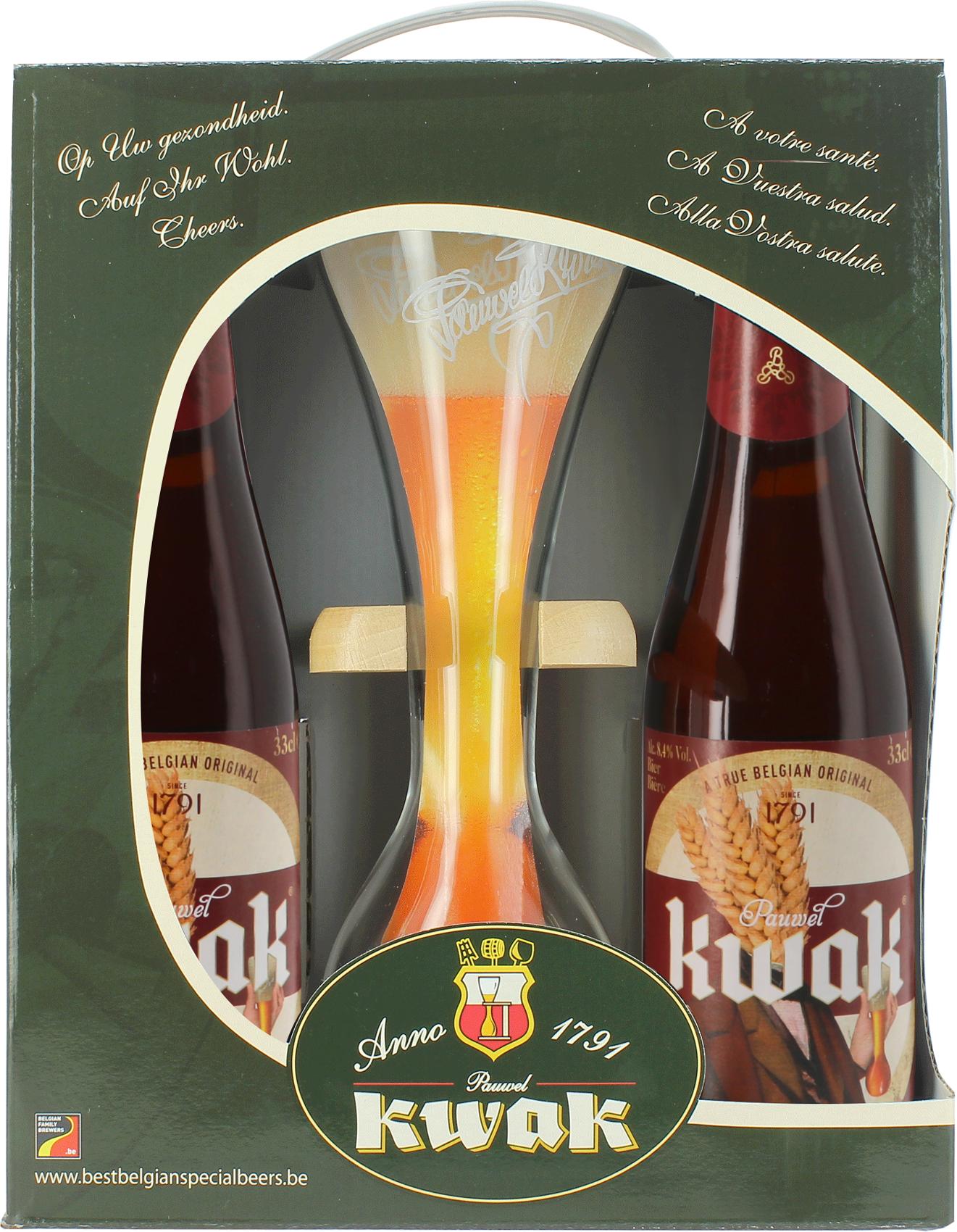 Pack de regalo Kwak - 4 cervezas