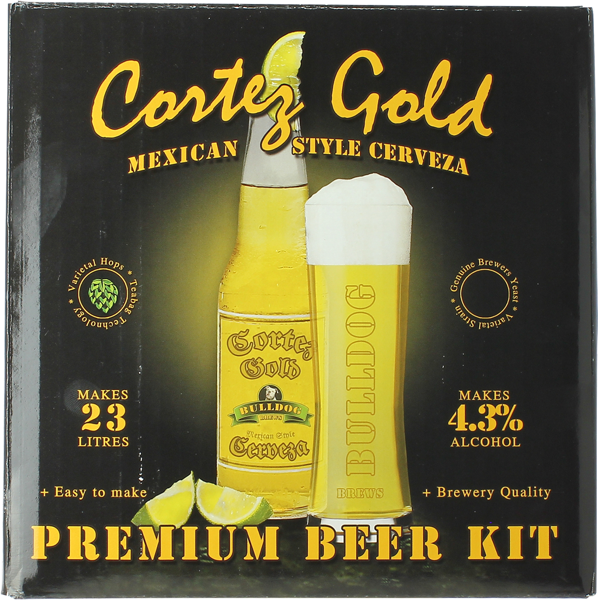 Kit Bulldog Cortez Gold Mexican Cerveza