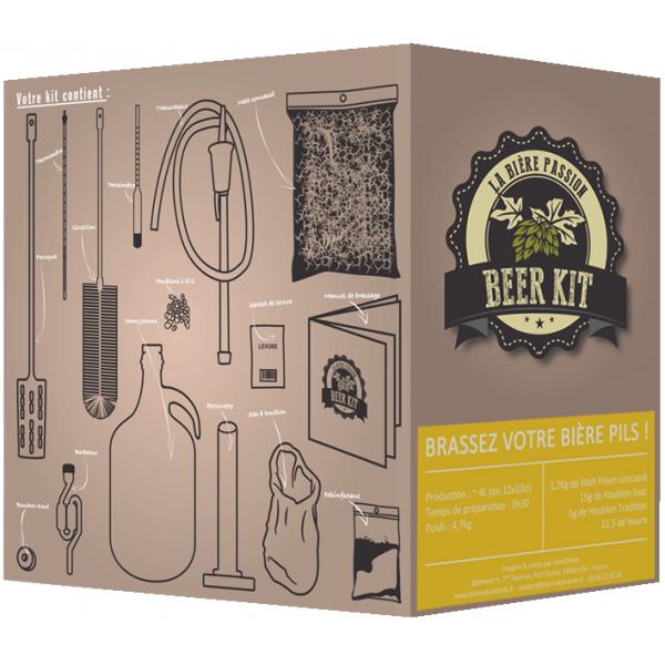 beer kit le kit complet pour brasser simplement sa bi re pils blonde la maison. Black Bedroom Furniture Sets. Home Design Ideas