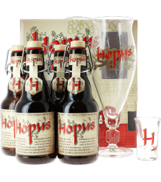 Coffret Hopus (4 bières, 2 verres)