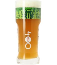 Verre Grolsch 400 ans logo vert