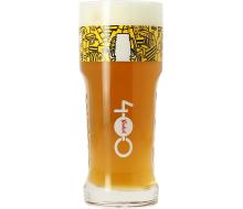 Verre Grolsch 400 ans logo jaune
