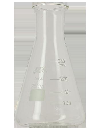 Erlenmeyer 250 mL gradué et résistant à la chaleur