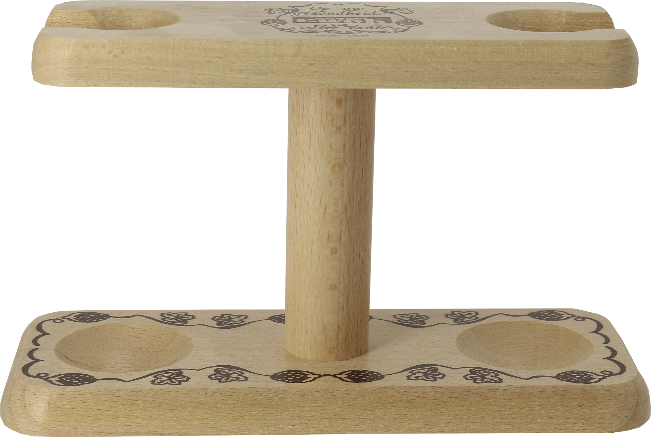 Soporte doble Kwak en madera