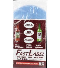 Etiquettes FastLabel pour bouteilles 75 cl