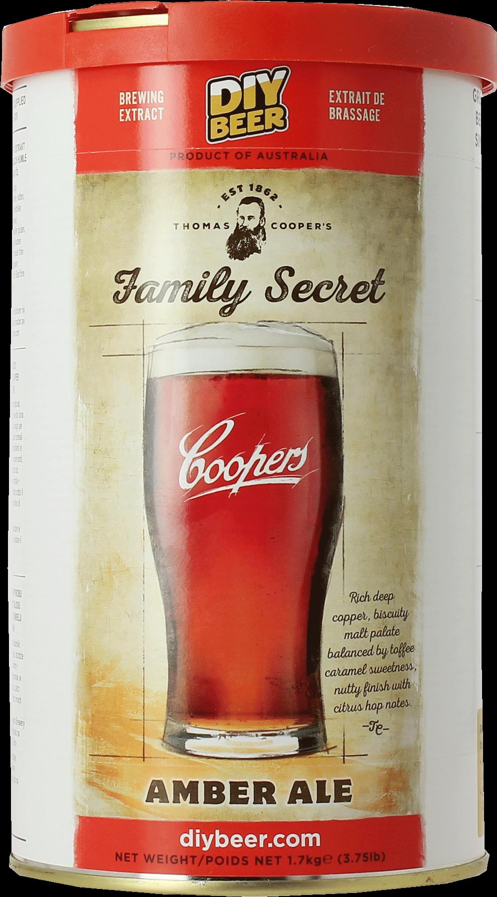 Kit à bière Coopers Amber Ale Family Secret 1,7 kg