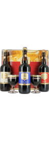 Coffret Chimay 75 cL (3 bouteilles et 2 verres)
