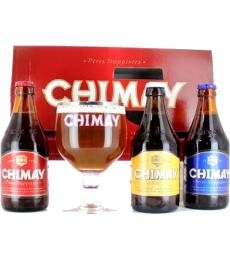 Coffret Trilogie Chimay (3 bières + 1 verre)