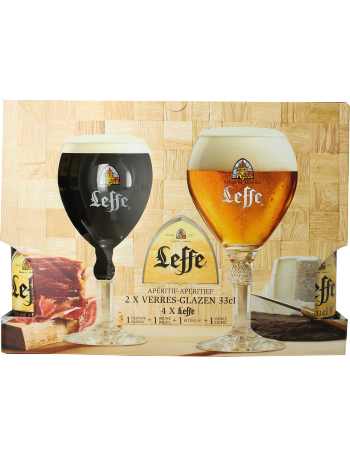 coffret leffe 4 bi res leffe 2 verres leffe. Black Bedroom Furniture Sets. Home Design Ideas