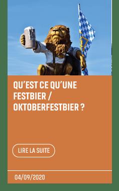 Article qu'est ce qu'une festbier / oktoberfestbier