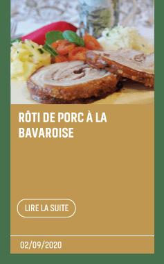 Article Recette roti de porc à la bavaroise